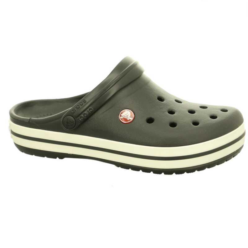 Ice Blue-White Crocs Crocband Clog Schuhe Hausschuhe Pantoletten Badeschuhe